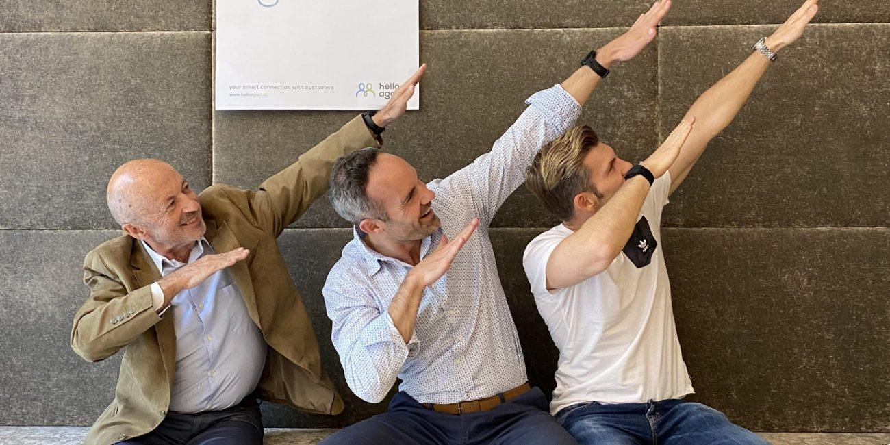 Franz Tretter mit Florian Gschwandtner und Hansi Hansmann